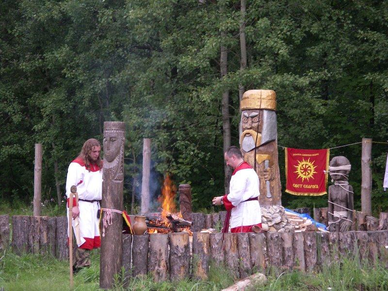Rodnover shrine in Kaluga, Russia