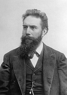 Wilhelm Röntgen German physicist