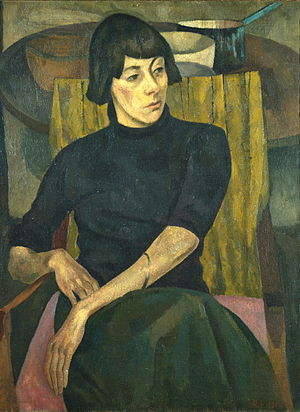 Nina Hamnett - 1917 portrait of Nina Hamnett painted by Roger Fry (Courtauld Gallery, London)
