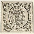 Roman Alphabet letter O with Louis XIV decoration MET DP855582.jpg
