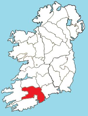 Roman Catholic Diocese of Cloyne - Image: Roman Catholic Diocese of Cloyne map
