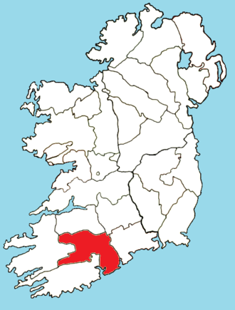 Roman Catholic Diocese of Cloyne - Image: Roman Catholic Diocese of Cloyne map