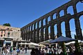 Roman aqueduct, Segovia, 1st century CE (8) (29184445440).jpg