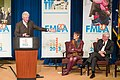 Rosa DeLauro, Chris Dodd and Former Pres. Bill Clinton, February 2013.jpg