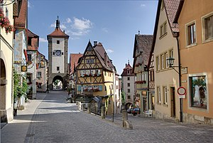 Vista del Plönlein de Rothenburg.