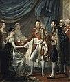 Rouget - Napoléon Ier présente le roi de Rome aux dignitaires de l'Empire (20 mars 1811).jpg