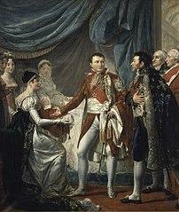 Napoléon présente le roi de Rome aux dignitaires de l'Empire, 20 mars 1811