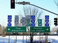 Street signs and streetlight