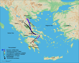 son of Aristomachus, in Greek mythology