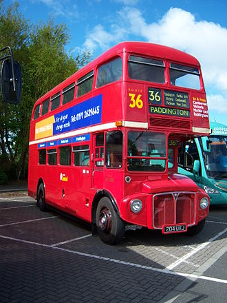 London Buses route 36 - London Central AEC Routemaster with route 36 branding