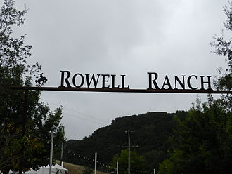 Hayward Area Recreation and Park District - gate at Rowell Rodeo Park