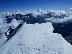 La vetta della montagna.