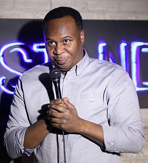 Roy Wood Jr. - Wood performing at The Stand in December 2016