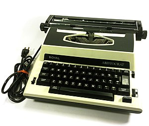 Royal Typewriter Company - Royal Aristocrat Electric Typewriter