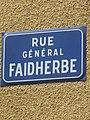 Rue Général Faidherbe plaque.jpg
