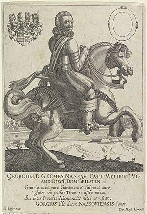 Ruiterportret van George, graaf van Nassau-Beilstein, RP-P-OB-105.876