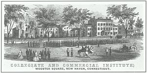 Russell Military Academy -  New Haven Collegiate and Commercial Institute in 1860.