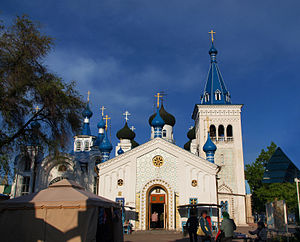 比什凯克: Russian Orthodox cathedral in Bishkek