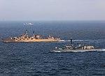 Russian cruiser Marshal Ustinov and HMS St Albans MOD 45165068.jpg