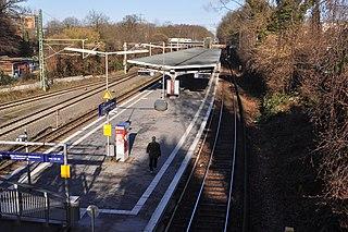 Rübenkamp station railway station in Barmbek-Nord, Germany