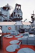 S-300F launchers on the cruiser Marshal Ustinov.