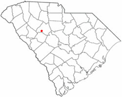 Location of Silverstreet, South Carolina
