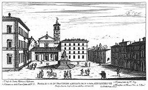Giovanni Battista Falda: View of Santa Maria i...