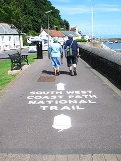 South West Coast Path Long distance footpath in England