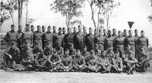 Racial segregation in the United States - Graduating class of September 1944, SWPA OCS at Camp Columbia, Australia, clearly showing an integrated population.