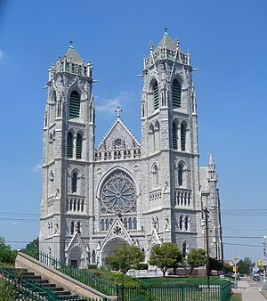 Schickel & Ditmars - Sacred Heart, Newark, one of the largest gothic cathedrals in the U.S.