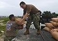 Sailors prepare sand bags ahead of Hurricane Irma. (36944502651).jpg