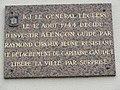 Saint-Paterne (Sarthe) Saint-Gilles, plaque général Leclerc libérateur 1944.jpg