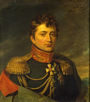 Großdrebnitz - The Vicomte de Saint-Priest, by George Dawe from the Military Gallery of the Winter Palace