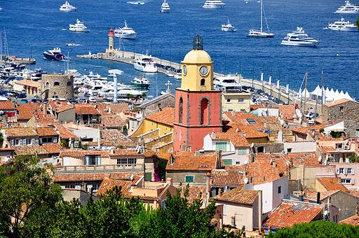 Saint-Tropez - Vue générale, église, phare