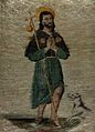 Saint James the Great. Watercolour on woven fabric. Wellcome V0032230.jpg