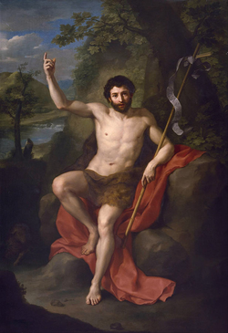 Saint John The Baptist Preaching In The Wilderness by Anton Raphael.png