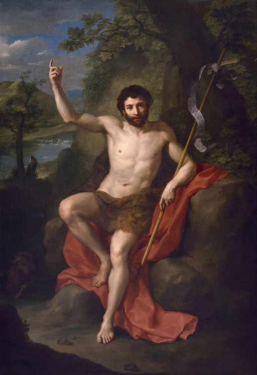 Saint John The Baptist Preaching In The Wilderness by Anton Raphael