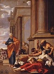 Saint Pierre guérissant les malades de son ombre