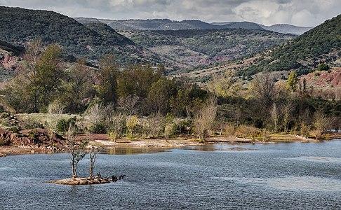 Salagou Lake. Liausson, Hérault, France.