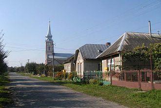 Solomonovo - Image: Salamon Tisza ut+templom