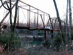 Saline River Bridge at River St., Old Military Rd & SW Trail, Benton, Saline, AR.JPG