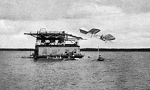 Samuel Pierpont Langley - First failure of the manned Aerodrome, Potomac River, Oct. 7, 1903