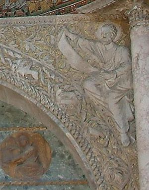 Spandrel (biology) - Stephen Jay Gould and Richard Lewontin used the architectural term spandrel (the triangular gap at the corner of an arch) to describe a byproduct of evolution. Basilica di San Marco, Venice