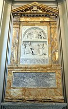 San giovanni in laterano, interno, navata interna dx, cenotafio di silvestro II, m. 1003, 01