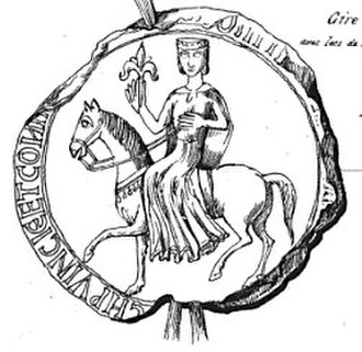 Richard, 1st Earl of Cornwall - Seal of Sanchia, Queen of the Romans, Richard's wife