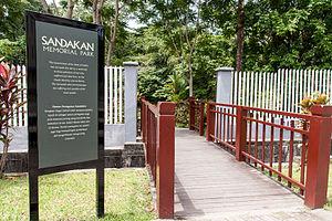 Sandakan Memorial Park - Entrance to the park.