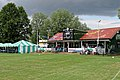 Sandwich Town CC cricket pavilion at Sandwich, Kent, England 01.jpg
