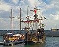 Santa Maria de Colombo (replica) in the port of Funchal. Madeira, Portugal.jpg