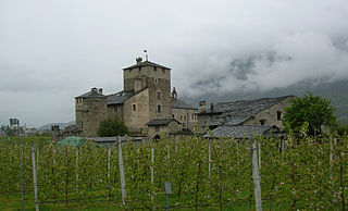 Sarriod de la Tour Castle building in Saint-Pierre, Italy