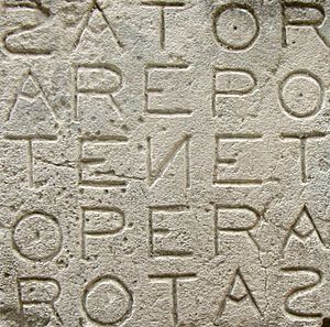 Palindrome - The Sator Square.